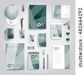 corporate identity stationery... | Shutterstock .eps vector #482664292