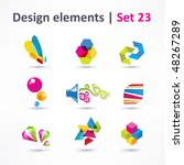 business design elements   icon