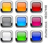 realistic metallic buttons. | Shutterstock .eps vector #48267448