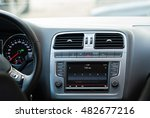 car audio system front panel. | Shutterstock . vector #482677216