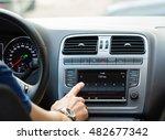 close up of a man touching... | Shutterstock . vector #482677342