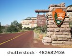 east gate of zion national park ... | Shutterstock . vector #482682436