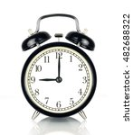 alarm clock isolated on white ... | Shutterstock . vector #482688322