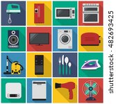 home appliances flat icon. you...
