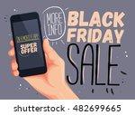 black friday sale for mobile...   Shutterstock .eps vector #482699665