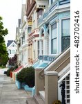 Small photo of San Francisco, California, the colored traditional houses of Alamo square