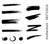 black brush stroke set... | Shutterstock .eps vector #482712616