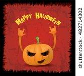 happy halloween vector creative ... | Shutterstock .eps vector #482714302
