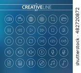 universal multimedia thin icons ...