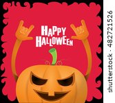 happy halloween vector creative ... | Shutterstock .eps vector #482721526