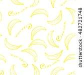 banana seamless pattern. | Shutterstock .eps vector #482721748