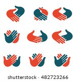 isolated abstract clapping... | Shutterstock .eps vector #482723266
