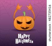 happy halloween vector creative ... | Shutterstock .eps vector #482735416