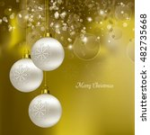 christmas background. abstract... | Shutterstock .eps vector #482735668