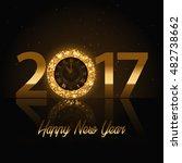 vector 2017 happy new year... | Shutterstock .eps vector #482738662
