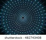 futuristic virtual circle... | Shutterstock . vector #482743408