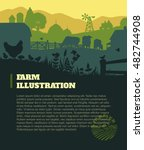 farm illustration background ... | Shutterstock .eps vector #482744908