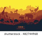 Zoo World Illustration...