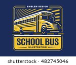 school bus illustration on... | Shutterstock .eps vector #482745046