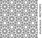 beautiful black islamic girih... | Shutterstock .eps vector #482745892