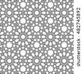 beautiful black islamic girih...   Shutterstock .eps vector #482745892