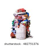 white straw basket full of... | Shutterstock . vector #482751376