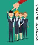 recruitment employee hired... | Shutterstock .eps vector #482751526