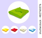 color icons stacked towels....   Shutterstock .eps vector #482760376