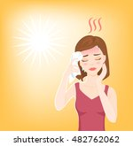 young beautiful woman suffers... | Shutterstock .eps vector #482762062