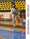 Small photo of TURIN - FEB 7: Women Foil World Cup, Usa fencer SINGH Ambika during team tournament on February 7, 2010 in Turin, Italy.