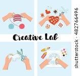 vector set of illustration of... | Shutterstock .eps vector #482766496