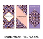 set of business cards. template ... | Shutterstock .eps vector #482766526