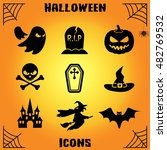 halloween icon  halloween icon... | Shutterstock .eps vector #482769532