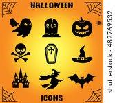 halloween icon vector | Shutterstock .eps vector #482769532