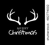 merry christmas and happy new... | Shutterstock .eps vector #482774032