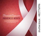 breast cancer october awareness ... | Shutterstock .eps vector #482776996
