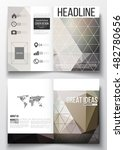 set of business templates for... | Shutterstock .eps vector #482780656