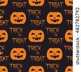 halloween tile vector pattern... | Shutterstock .eps vector #482782792