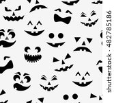 seamless pattern with black... | Shutterstock .eps vector #482785186