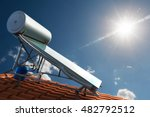 renewable energy for house | Shutterstock . vector #482792512