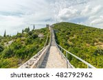 the walls of ston in croatia ... | Shutterstock . vector #482792962