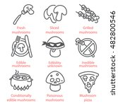 vector thin line icons set with ...