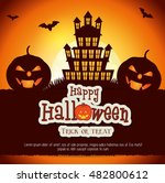 poster halloween party with... | Shutterstock .eps vector #482800612