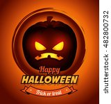 poster halloween party with... | Shutterstock .eps vector #482800732