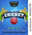 cricket event poster template...   Shutterstock .eps vector #482803798