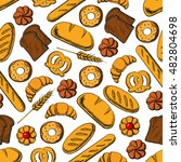 bakery and pastry products...   Shutterstock .eps vector #482804698