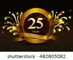 25th anniversary celebration... | Shutterstock .eps vector #482805082