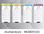 four banner for the clouded sky ... | Shutterstock .eps vector #482805142