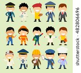 cartoon character set of people ... | Shutterstock .eps vector #482806696