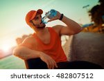 portrait of a athletic man... | Shutterstock . vector #482807512